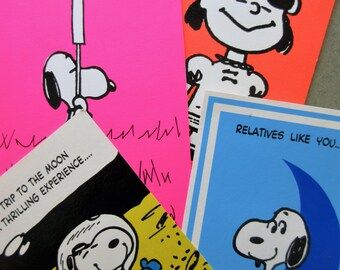 Vintage Peanuts Greeting Cards Snoopy Lucy Card Charles Schulz Hallmark Birthday