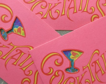 Vintage Invitations, Cocktail Party Invitations, Pop Up Invites, Pop Up Rooster Invitations, Kitschy Cocktail Party Norcross Invitations