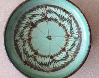 Vintage Midcentury Modern Ceramic Dish, Vintage Herman Kähler Dish, Scandinavian Pottery, Made in Denmark, SMALL Dish, Danish Trinket Dish