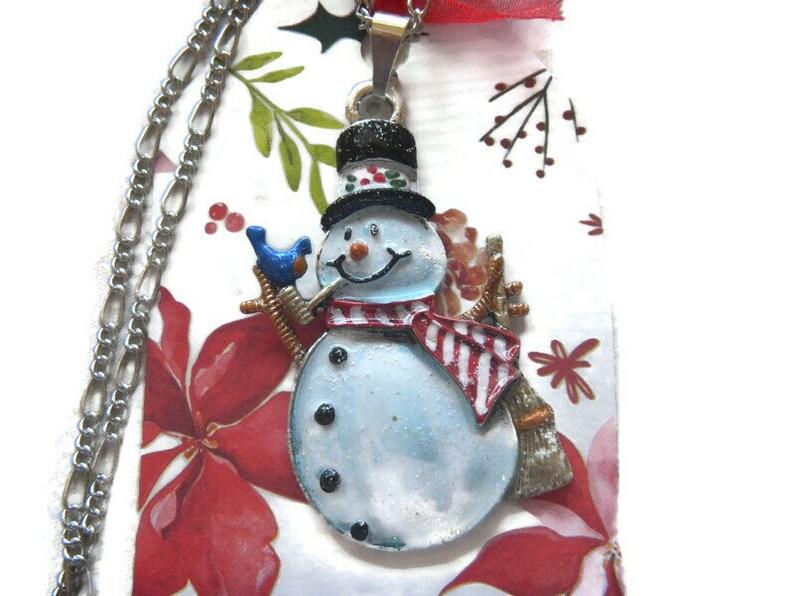 Snowman PendantNecklace Jack Frost