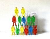 Stackable Clown building blocks - Bill Ding Jr  primary colors set - 14