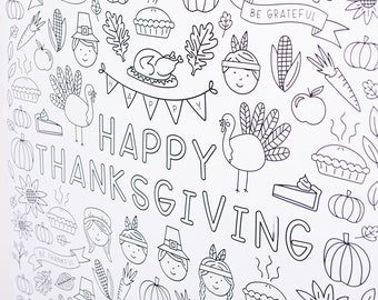 Huge Thanksgiving Engineer Print - Coloring Page Poster