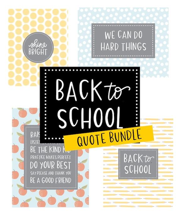 back to school quotes printables teacher printables