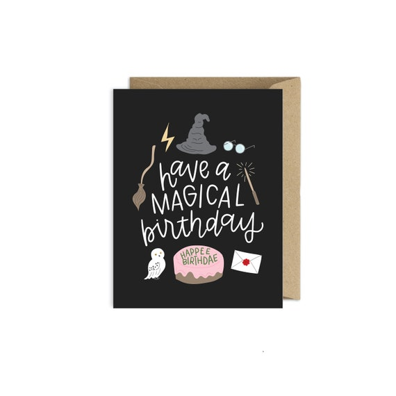 Harry Potter Birthday Card.Harry Potter Birthday Card