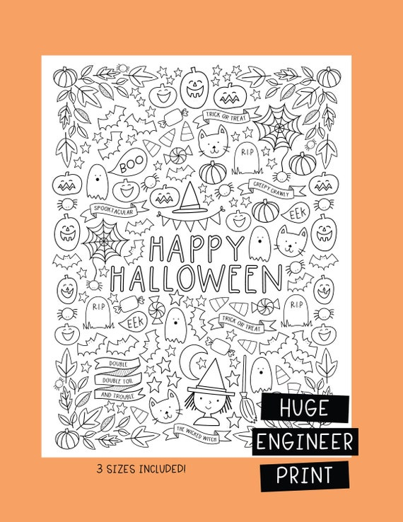 GIANT Halloween Kids Coloring Pages