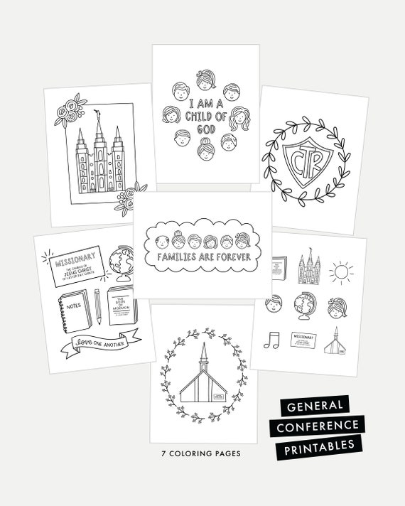 General Conference Coloring Page Printables And Engineer Print