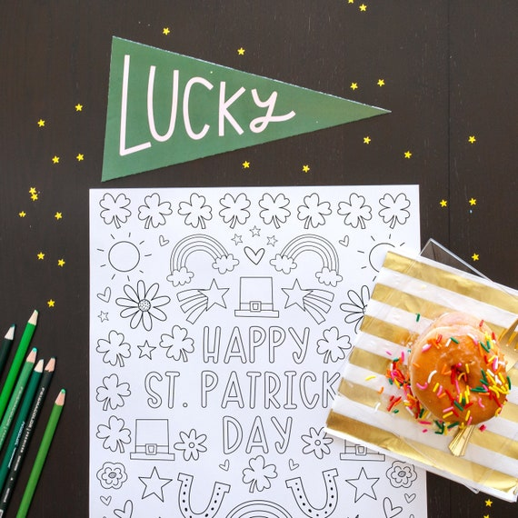 St. Patrick's Day Coloring Page and HUGE Poster