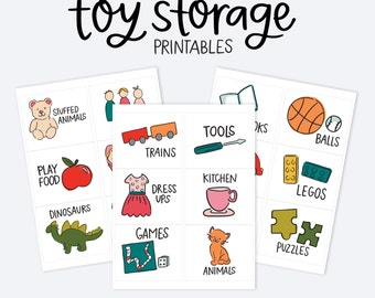 Kids Toy Room Organization Labels - Storage Picture Printables