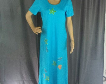 Retro Dress by On The Rocks  - Hand Painted Size M