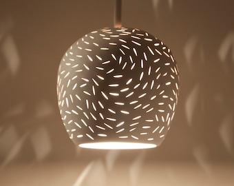 "CLAYLIGHT MINI PENDANT : 5"" Pendant Lamp | Unique Lighting | Ceramic Light Fixture | Ul Listed"