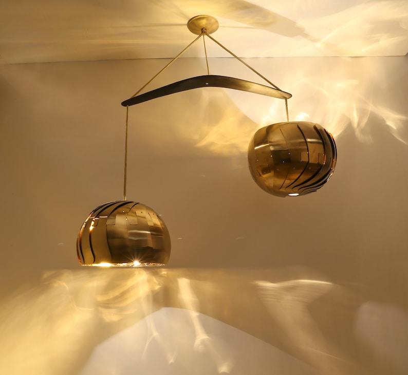 IRIS BALANCE : Chandelier Lighting  UL Listed  Brass Light image 0