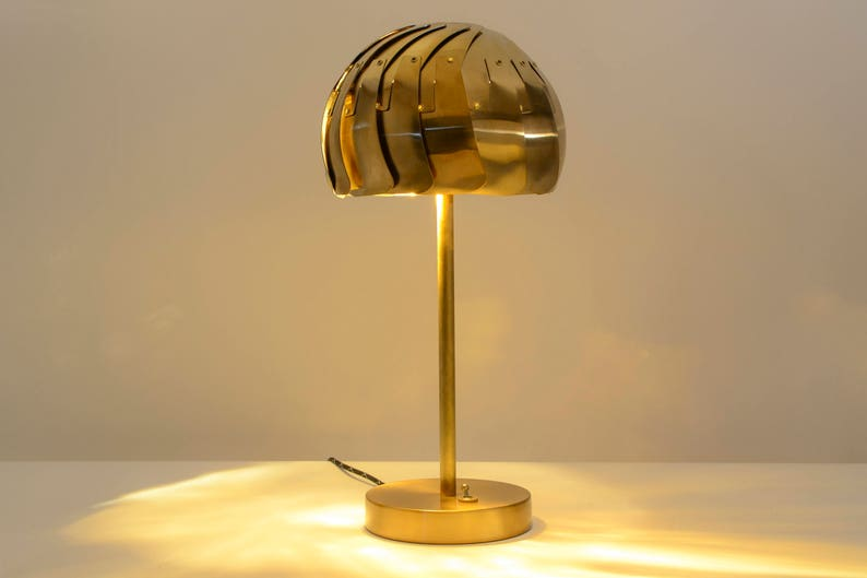 IRIS TABLE LAMP Brass or Stainless : Modern Lamp  Led Lamp image 0