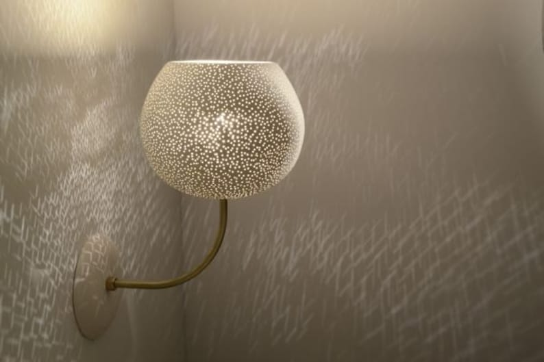 LARGE CLAYLIGHT SCONCE : On Sale 30% Off  Wall Light  Incandescent 60W