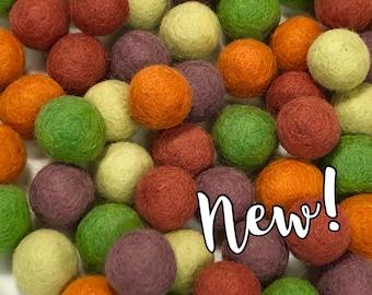 Collection - 60PC Piece VEGGIE GARDEN Felt Balls