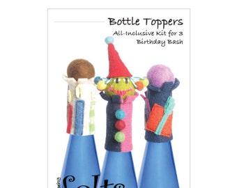 HandBEHG Felts - BIRTHDAY BASH Bottle Toppers Kit