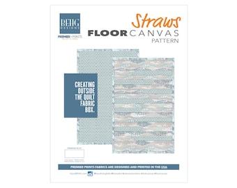 PDFPattern - Straws Floor Canvas - BEHG DESIGNS for Premier Prints