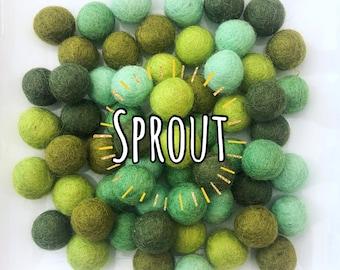 W-360PC 2CM SPROUT Collection Felt Balls