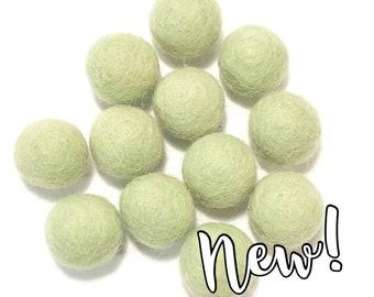Single Color Pack - 24PC MINT Felt Balls