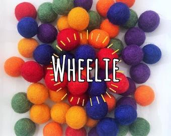 W-360PC 2CM WHEELIE Collection Felt Balls
