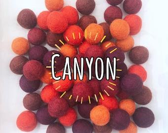 W-360PC 2CM CANYON Collection Felt Balls