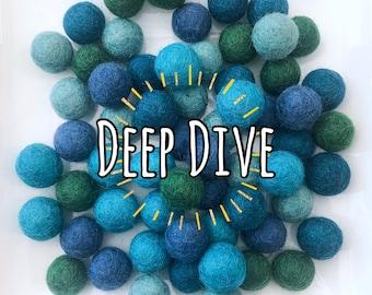 W-360PC 2CM DEEP DIVE Collection Felt Balls