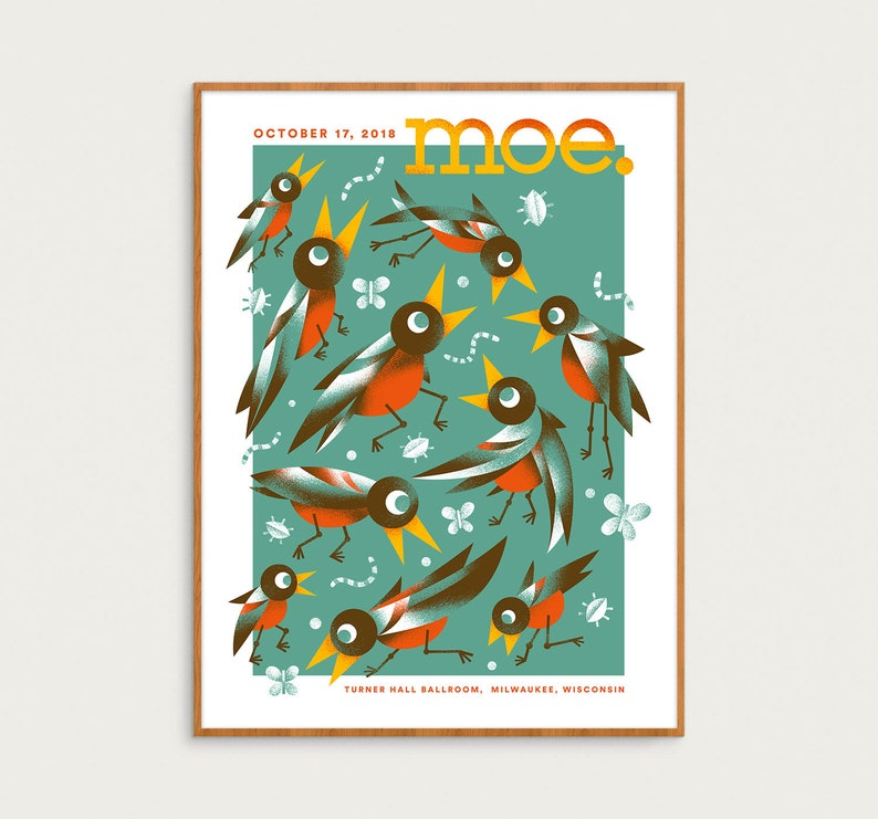 Moe. Show Poster  October 17 2018  Milwaukee WI  Official image 0
