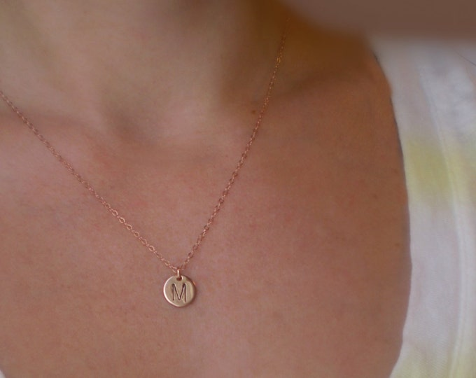 Featured listing image: Tiny Initial Necklace