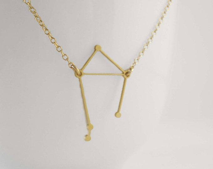 Libra Constellation Necklace, Zodiac Constellation Necklace, Astrology, Stars