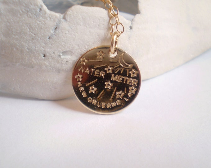 Featured listing image: New Orleans Water Meter Necklace