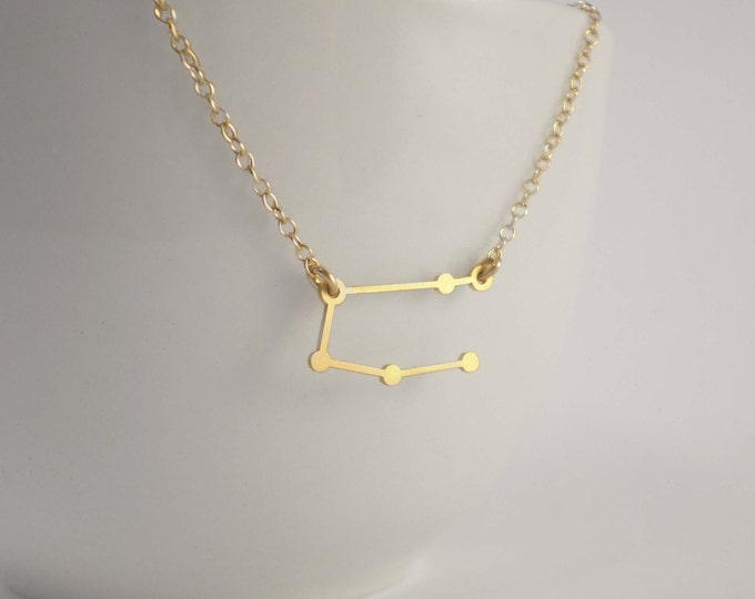 Featured listing image: Gemini Constellation Necklace, Zodiac Constellation Necklace, Gemini Charm, Gemini Necklace, Stars, Astrology