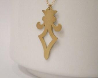 Long Fleur de Lis Finial Necklace, Architecture Inspired, Long Necklace, Layering Necklace, Nola Jewelry, New Orleans Necklace