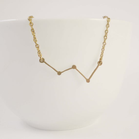 Cassiopeia Constellation Necklace - The Queen, Constellation Necklace, Stars, Cassiopeia Charm