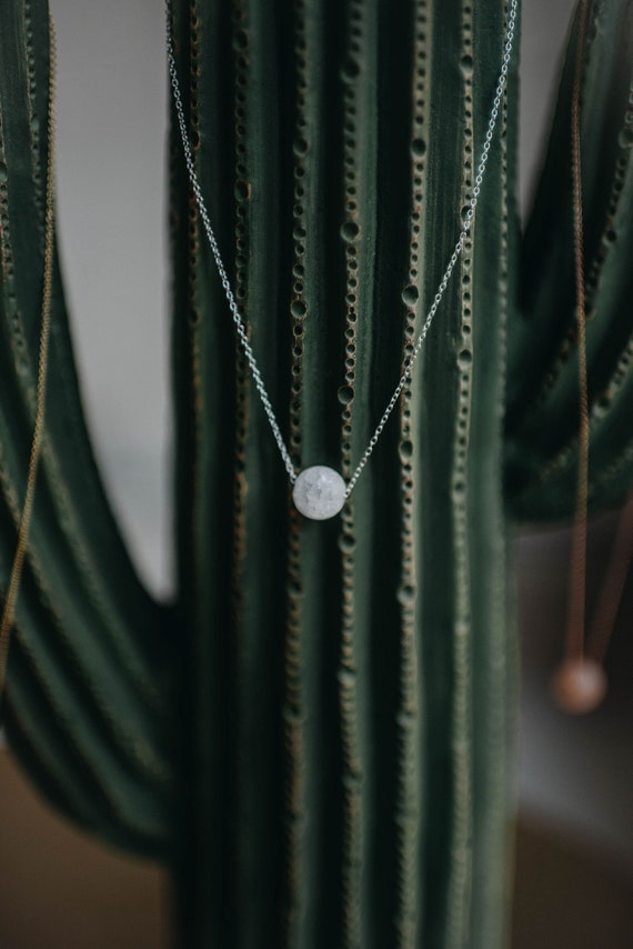 Solo Stone Necklace | Clear Quartz