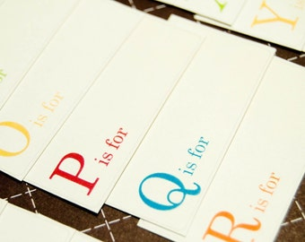 A is for . . . . . One Word Flashcards - Set of 26 - Mini