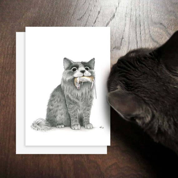 Alles Gute Zum Geburtstag Katze Lustige Katzenkarte Katze Etsy