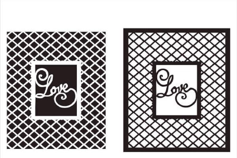 Love frame with Lattice