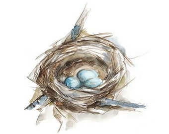Image result for painting birds nest