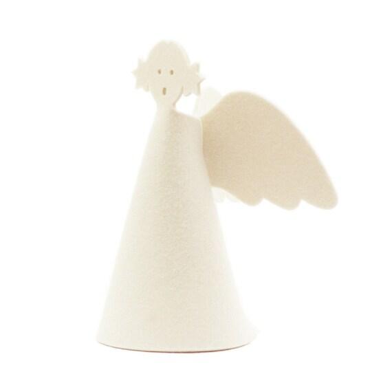 Christmas Angel Tree Topper.Angel Tree Topper Modern Christmas Decor In Wool Felt Minimalist Christmas Angel