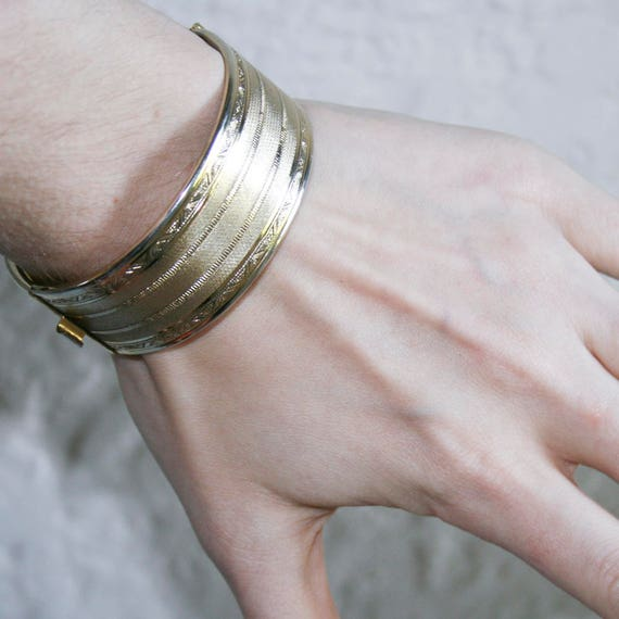 Gold Plated Clamp Bracelet