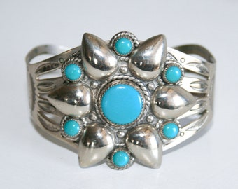 Bell Trading Company Faux Turquoise Nickel Silver Cuff Bracelet