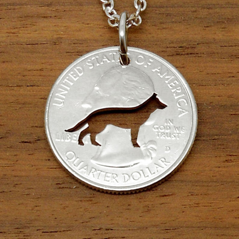 German Shepherd Puppy Image Rhodium Plated Tie Clip in Gift Box