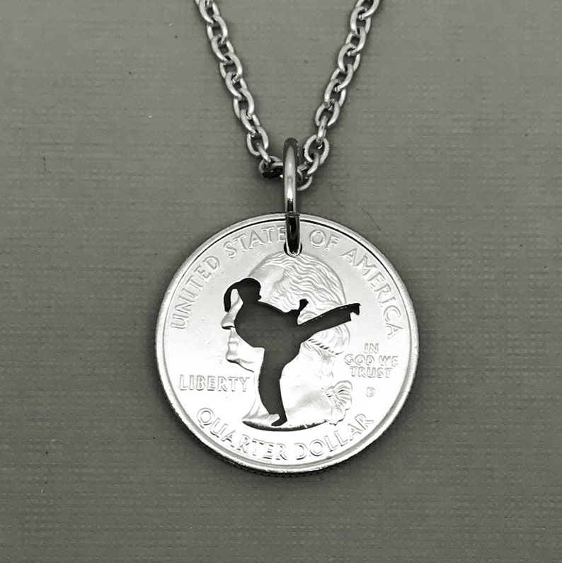 Tae Kwon Do Necklace TKD hand painted