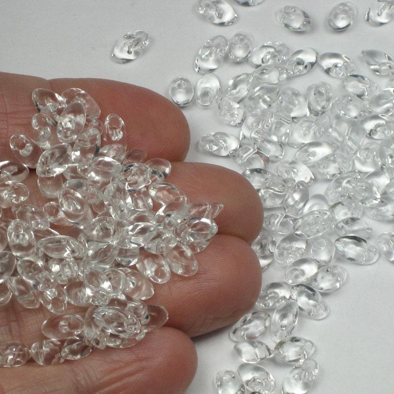 20 gr.pack Transparent Crystal Long Magatama Beads # 131 |P23b-20 @160 Miyuki 4x7mm glass seed beads for Kumihimo jewelry weaving 20 gr
