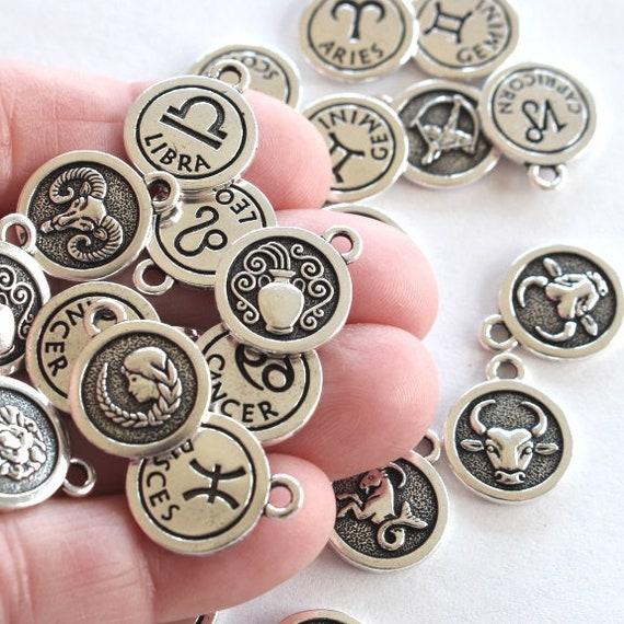 Scorpio Zodiac Symbol Pin Badge in English Pewter Star sign h Handmade