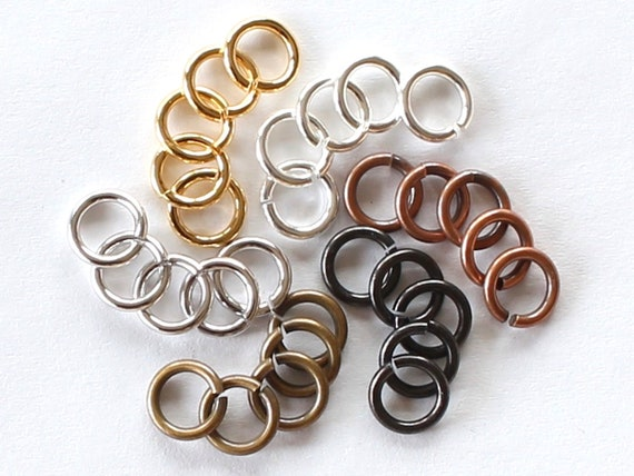 100pcs. Jumprings Antiqued Copper Heavy Strong OD-5mm
