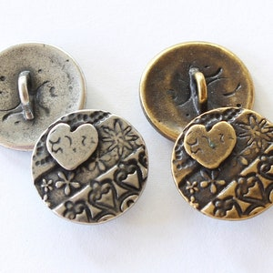 travel or Earth Day jewelry parts gold TierraCast silver continent world map copper /& brass plated pewter Earth Globe Buttons