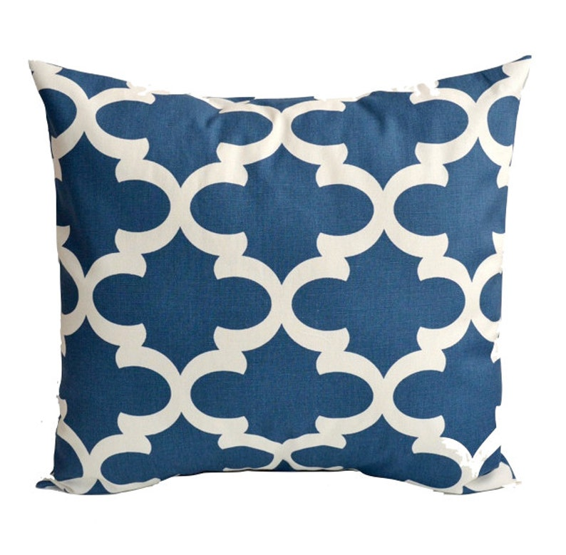 Decorative Throw Pillow Cover You Choose Any Size Blue Pillow Covers
