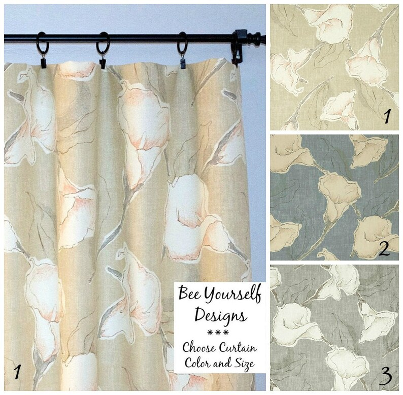 Magnolia Home Fashions Fl Curtains, How To Choose Curtain Rod Size