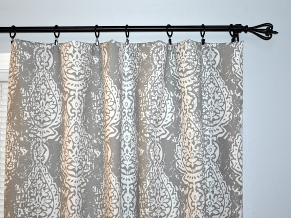 Indoor Outdoor Curtains Pair Of Rod Pocket Curtain Panels Etsy