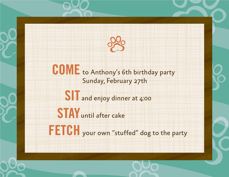 Dog Theme Birthday Invitations-12 | Etsy